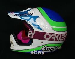 Shoei Helmet Vintage Motocross Fox Racing Jt Dirtbike MX Supercross Jeff Ward