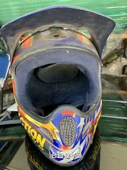 Suomy Motocross Helmet Vintage 1996 Bullet Rare Graphics Enzo Racing
