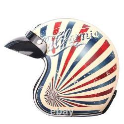 TORC T50 Route 66 Halley Motorcycle Helmet Open Face Retro Vintage Motocross