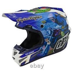 Troy Lee Designs SE4 Malcolm Smith Medium MX Helmet TLD AHRMA Vintage Motocross