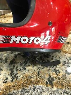 VINTAGE 1980 Snell BELL MOTO 4 RED MOTOCROSS MOTORCYCLE HELMET SIZE 7 3/8