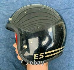 VTG 1983 SHOEI E5 Racing Stripes Open Face Motorcycle Helmet M/L SNELL 1980