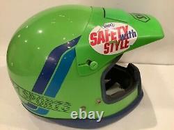 VTG Neon Green Shoei Motocross Helmet Size Large Motorcycle Helmet VT-1 Sports