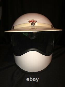 Vintage 1970s Bell Moto Star Helmet / Motocross Yellow 7 5/8