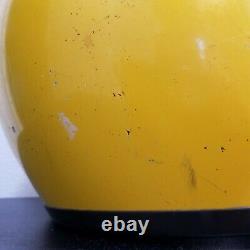 Vintage 1970s Bell Moto Star Helmet / Motocross Yellow Size 7 1/8