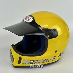 Vintage 1980 BELL MOTO 4 Force Flow Moro Cross Helmet 7 1/8
