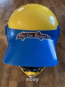 Vintage 1980 BELL MOTO 4 MOTO CROSS HELMET 7 3/8 Troy Lee Designs VISOR