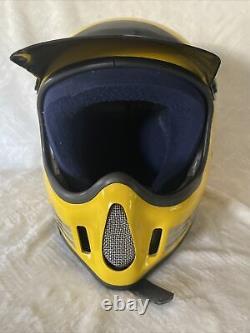 Vintage 1980s BELL MOTO 4 Force Flow Moro Cross Helmet 7 1/2