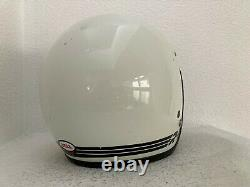 Vintage 1981 white Bell RT Motorcycle Motocross R-T Helmet, small