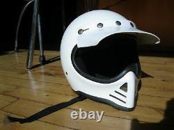 Vintage 1982 Simpson Model 52 Motorcycle MX Motocross Helmet Full Face White