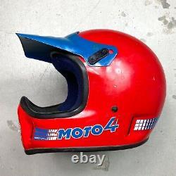 Vintage 1985 Bell Moto 4 Motocross Helmet with Fox Racing Decals 7 1/8 johnson 3