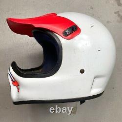 Vintage 1985 Bell Moto 4 Motocross Helmet with Troy Lee Designs Visor 7 1/2 mx