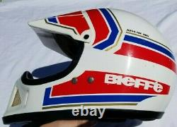 Vintage 1991 Bieffe BX6 Full Face Helmet Dirt Bike Motocross 80s 90s Italy MX