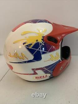 Vintage 1996 BELL GR-1250 TRAILSTAR Motorcross Racing HELMET Made in Italy LG