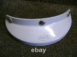 Vintage 70's Bell Helmet Visor 3-snap Grey 520 MX Motocross Rt Magnum 500tx