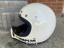 Vintage 80's Simpson M52 Moto Cross Helmet 7 3/8