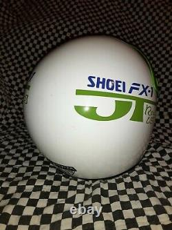 Vintage 85 shoei FX1 Racing Kawasaki atv HELMET M VGC WITH VISOR bell Simpson