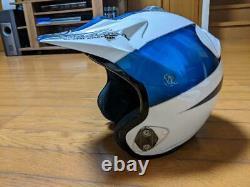 Vintage 90's Arai MX-III Motocross Helmet White/ Blue Size L Great Condition