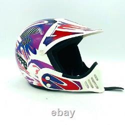 Vintage 90's Bieffe VX 300 Full Face Motocross Dirt Bike Helmet Size Large