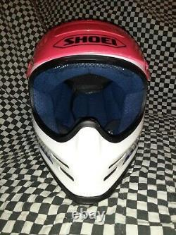Vintage 90 shoei FX1 Racing motocross atv HELMET L VGC WITH VISOR bell Simpson