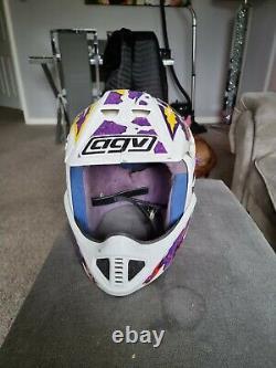 Vintage AGV blitz motocross Racing helmet Size L