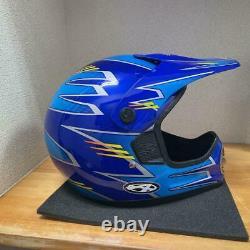 Vintage ANSWER Motocross Full-Face Helmet Blue Size XL Used