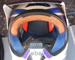 Vintage AXO RX-2 Carbon Fiber Motorcycle Motocross Helmet Visor SZ 7 3/8 60 RARE