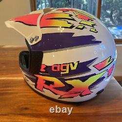 Vintage Agv RX Motocross Helmet
