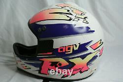 Vintage Agv RX Motocross Helmet Snell M90 Motorcycle Neon
