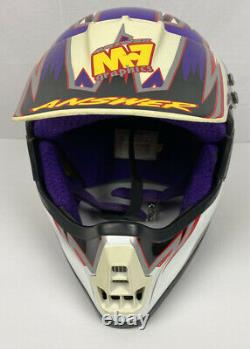 Vintage Answer Helmet Racing M7 Motocross BMX By KBC Snell Adult Size XL WithVisor