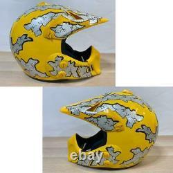 Vintage Arai MX-E Motocross Enduro Full-Face Helmet Yellow Size S Used