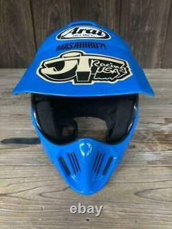 Vintage Arai MX-II Motorcycle Full-Face Helmet Blue Size M Retro 80's 90's