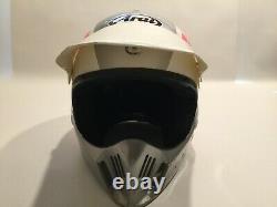 Vintage Arai MX-Pro Motocross Motorcycle Helmet 1987 1988 EraPink/Silver Snell