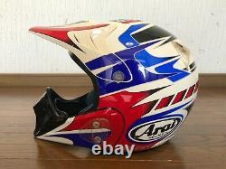 Vintage Arai Motocross Helmet MX-III Tricolor Size L Used