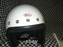 Vintage BELL MOTO 3 MOTO CROSS HELMET 7 5/8 VGC WITH VISOR snell 80