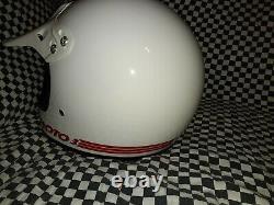 Vintage BELL MOTO 3MOTO CROSS HELMET 7 1/2 VGC WITH VISOR 86