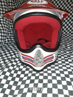 Vintage BELL MOTO 3MOTO CROSS HELMET 7 1/8 VGC WITH VISOR 85