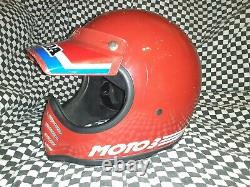 Vintage BELL MOTO 3MOTO CROSS HELMET 7 1/8 VGC WITH VISOR snell 75