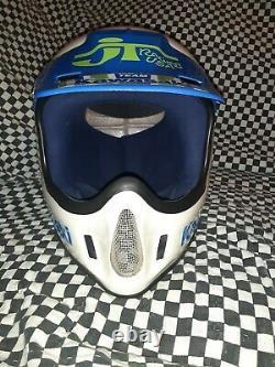 Vintage BELL MOTO 4 MOTO CROSS HELMET 7 1/2 VGC Kawasaki Racing