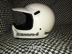 Vintage BELL MOTO 4 MOTO CROSS HELMET 7 1/2 VGC WITH VISOR