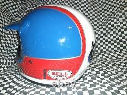 Vintage BELL MOTO 4 MOTO CROSS HELMET 7 1/2 VGC WITH VISOR rick Johnson repli
