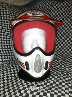 Vintage BELL MOTO 4 MOTO CROSS HELMET 7 1/2 VGC aria shoei Buco white /red