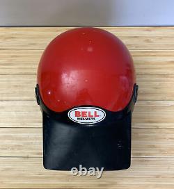 Vintage BELL MOTO 4 MOTO CROSS HELMET 7 1/2 WITH VISOR 85