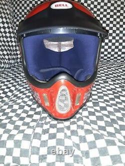 Vintage BELL MOTO 4 MOTO CROSS HELMET 7 1/4 VGC WITH VISOR