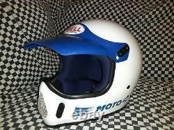 Vintage BELL MOTO 4 MOTO CROSS HELMET 7 1/4 VGC WITH VISOR 85