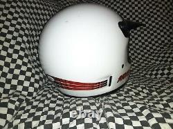 Vintage BELL MOTO 4 MOTO CROSS HELMET 7 1/4 VGC WITH VISOR honda