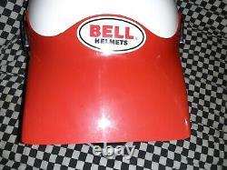 Vintage BELL MOTO 4 MOTO CROSS HELMET 7 1/4 VGC aria shoei Buco white /red