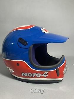 Vintage BELL MOTO 4 MOTO CROSS HELMET 7 1/8 57 WITH VISOR Like New