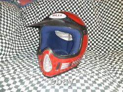 Vintage BELL MOTO 4 MOTO CROSS HELMET 7 1/8 VGC WITH VISOR