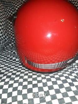Vintage BELL MOTO 4 MOTO CROSS HELMET 7 3/4 VGC WITH VISOR